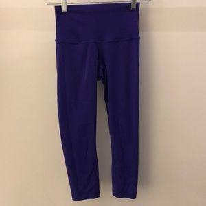 Lululemon purple crop legging, sz 2, 64794